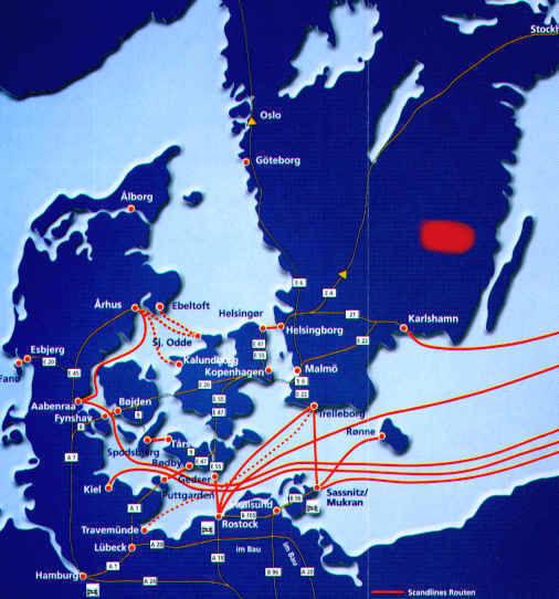 anreise zu unseren ferienhäuser in schweden
