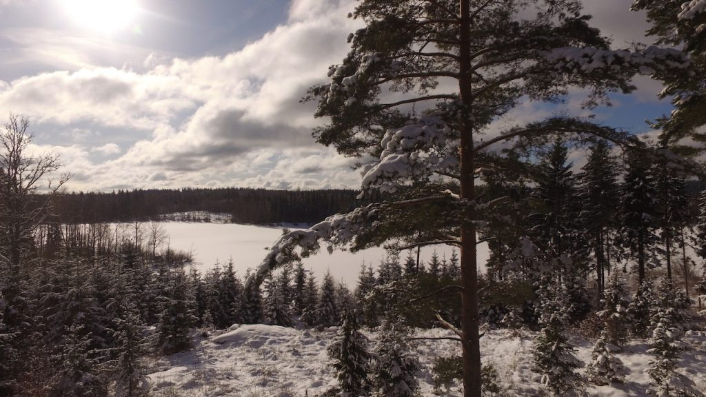 See Kiasjön im winter in Schweden
