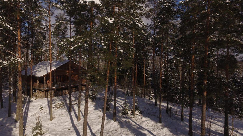 Dachsbau im Winter in Schweden