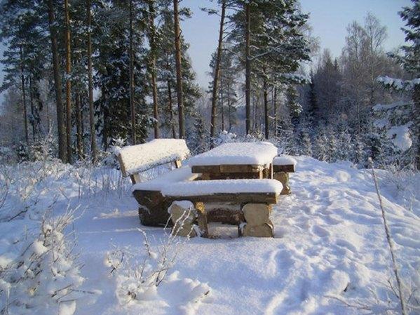 Winter in Schweden - Haus Dachsbau